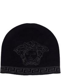 dunkelblaue Mütze von Versace