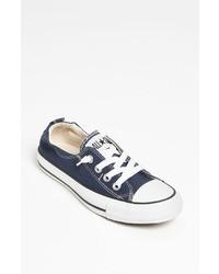 dunkelblaue niedrige Sneakers