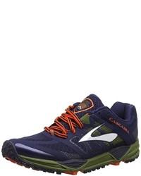 dunkelblaue niedrige Sneakers von Brooks