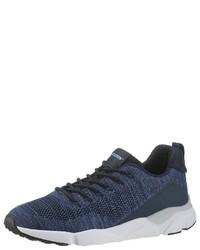 dunkelblaue niedrige Sneakers von PETROLIO