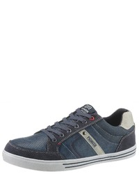 dunkelblaue niedrige Sneakers von Pioneer Authentic Jeans