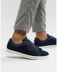 dunkelblaue niedrige Sneakers von Ted Baker