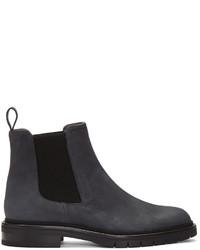 dunkelblaue Nubuk Chelsea Boots von Robert Clergerie