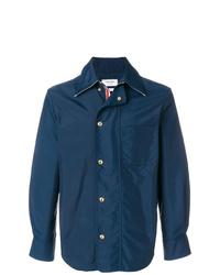 dunkelblaue Shirtjacke aus Nylon von Thom Browne