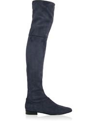 dunkelblaue Overknee Stiefel aus Wildleder von 3.1 Phillip Lim