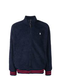 dunkelblaue Pelz Bomberjacke von Polo Ralph Lauren
