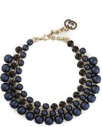 dunkelblaue Perlenkette von Gucci