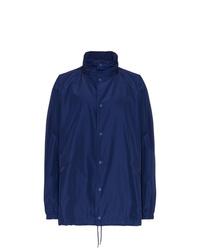 dunkelblaue Regenjacke von Balenciaga
