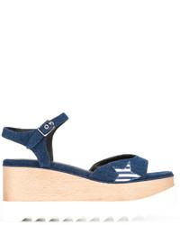 dunkelblaue Sandalen mit Sternenmuster von Stella McCartney
