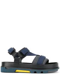 dunkelblaue Sandalen von Emporio Armani