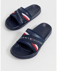 dunkelblaue Sandalen von Tommy Hilfiger
