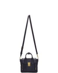 dunkelblaue Satchel-Tasche aus Leder von 3.1 Phillip Lim