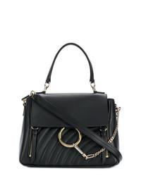 dunkelblaue Satchel-Tasche aus Leder von Chloé