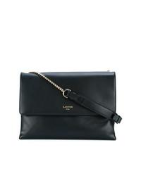 dunkelblaue Satchel-Tasche aus Leder von Lanvin