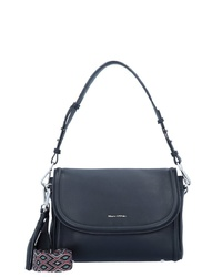 dunkelblaue Satchel-Tasche aus Leder von Marc O'Polo