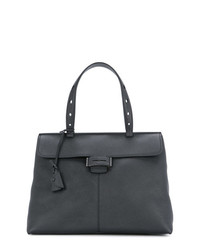 dunkelblaue Satchel-Tasche aus Leder von Myriam Schaefer