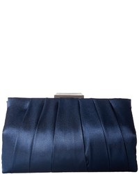 dunkelblaue Satin Clutch
