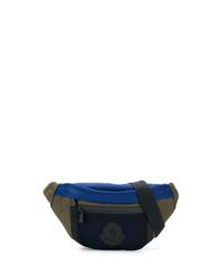 dunkelblaue Segeltuch Bauchtasche von Moncler
