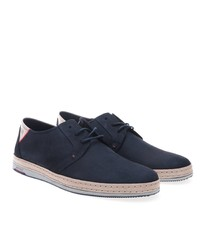 dunkelblaue Segeltuch Derby Schuhe von Greyder
