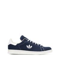dunkelblaue Segeltuch niedrige Sneakers von adidas