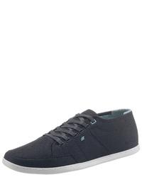 dunkelblaue Segeltuch niedrige Sneakers von Boxfresh