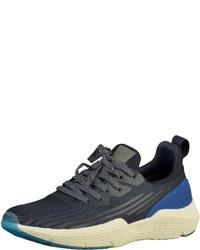 dunkelblaue Segeltuch niedrige Sneakers von Bugatti