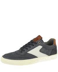 dunkelblaue Segeltuch niedrige Sneakers von Bullboxer