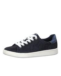 dunkelblaue Segeltuch niedrige Sneakers von s.Oliver