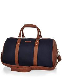 dunkelblaue Segeltuch Reisetasche