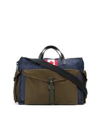 dunkelblaue Segeltuch Reisetasche von DSQUARED2