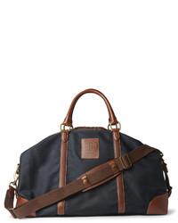 dunkelblaue Segeltuch Reisetasche von Polo Ralph Lauren