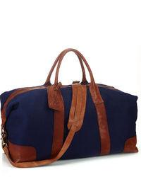 dunkelblaue Segeltuch Sporttasche