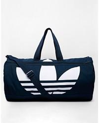 dunkelblaue Segeltuch Sporttasche von adidas