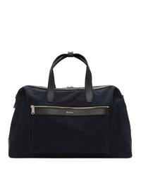 dunkelblaue Segeltuch Sporttasche von Paul Smith