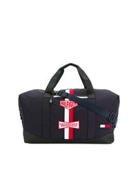 dunkelblaue Segeltuch Sporttasche von Tommy Hilfiger