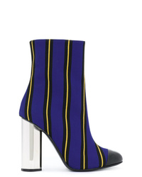 dunkelblaue Segeltuch Stiefeletten von Marco De Vincenzo