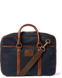 dunkelblaue Segeltuch Umhängetasche von Polo Ralph Lauren