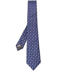 dunkelblaue Seidekrawatte mit Paisley-Muster von Canali