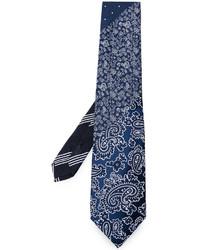 dunkelblaue Seidekrawatte mit Paisley-Muster von Etro