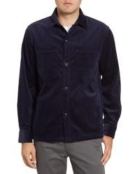 dunkelblaue Shirtjacke aus Cord