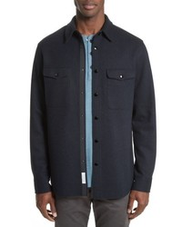 Dunkelblaue Shirtjacke