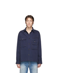 dunkelblaue Shirtjacke von Acne Studios