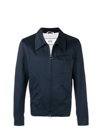 dunkelblaue Shirtjacke von AMI Alexandre Mattiussi