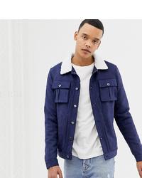 dunkelblaue Shirtjacke von Another Influence
