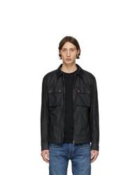 dunkelblaue Shirtjacke von Belstaff