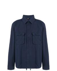 dunkelblaue Shirtjacke von BOSS HUGO BOSS