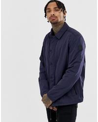 dunkelblaue Shirtjacke von BOSS