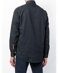dunkelblaue Shirtjacke von Massimo Alba