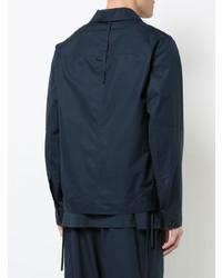 dunkelblaue Shirtjacke von Craig Green