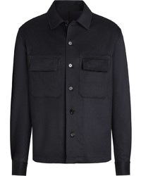 dunkelblaue Shirtjacke von Ermenegildo Zegna